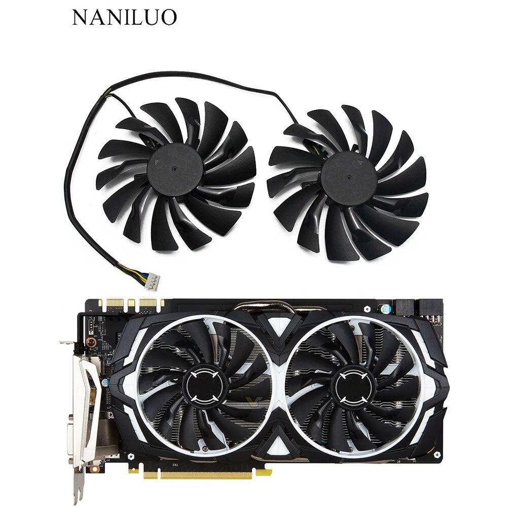 2 шт./лот P104-100 MINEIRO GTX 1080/1070/1060 вентилятор для msi GTX1080 GTX1070 ARMADURA 8G OC GTX1060 графическая карта GPU Вентиля
