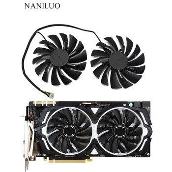 2 шт./лот P104-100 MINER GTX 1080/1070/1060 вентилятор для msi GTX1080 GTX1070 ARMOR 8G OC GTX1060 графическая карта GPU Вентиля видеокарта msi geforce gtx 1080 armor 8g oc