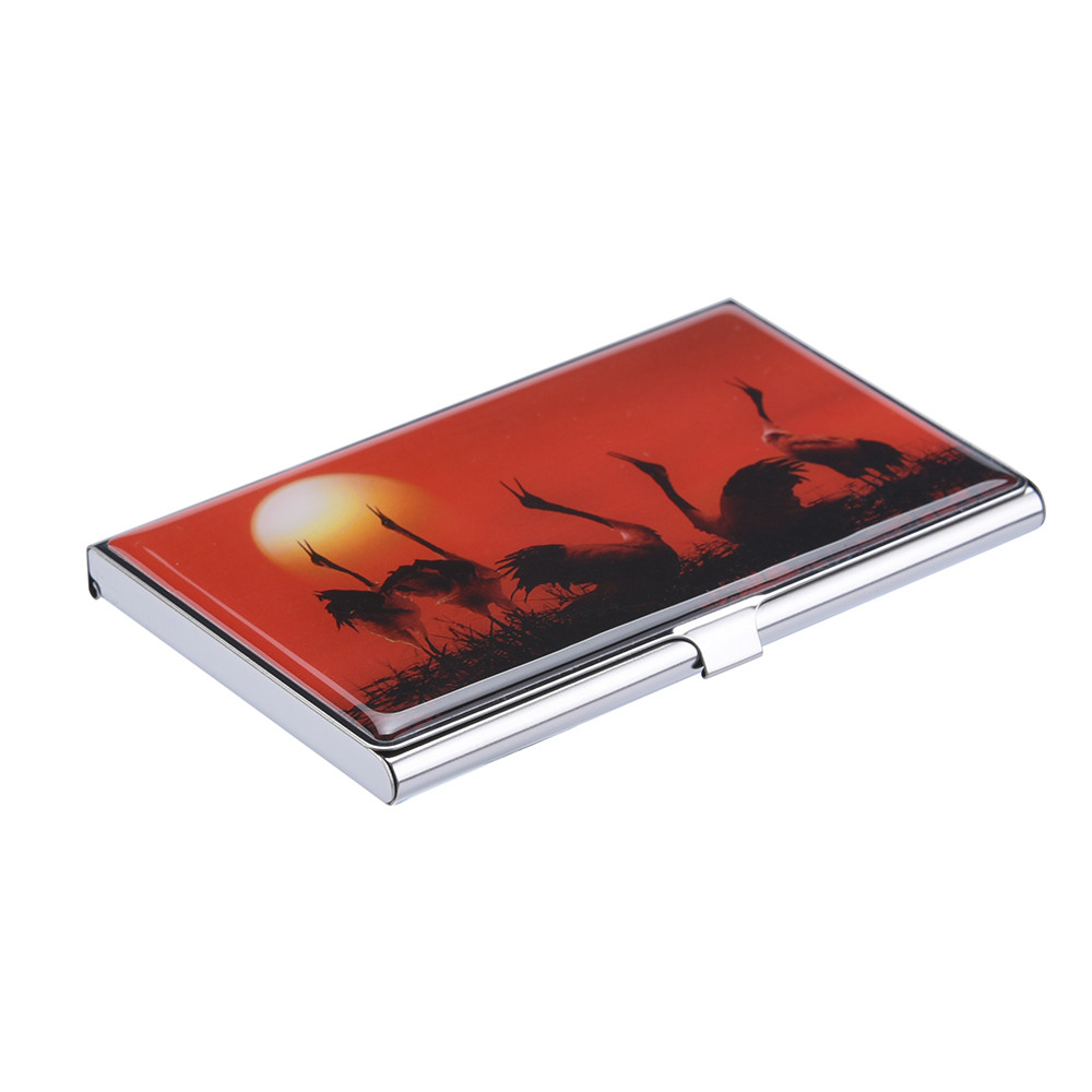 Stainless Steel Metal Card Case Box Men Glue Metal  Business Credit Cards Holder Wallet Cover Coin Purse Holder Woman 812