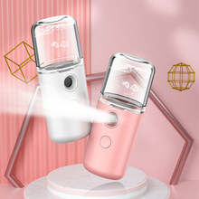 Desinfetantes de álcool portátil pulverizador nano névoa pulverizador mini usb recarregável rosto spray facial corpo vapor hidratante da pele