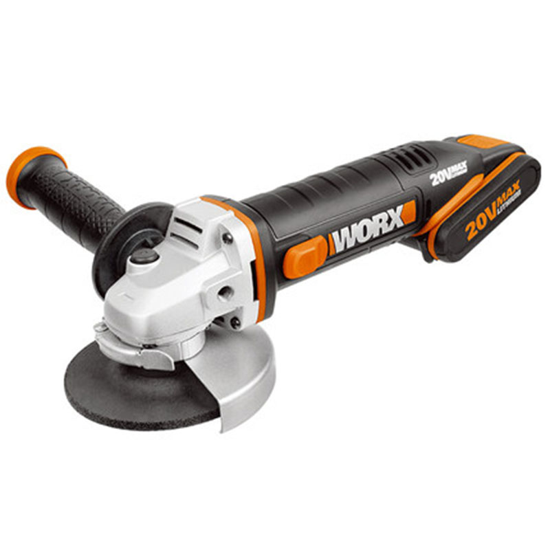 Free shipping  Worx WX800  20V Cordless 115MM Angle Grinder with Powershare 20V battery Fast Charger  Tool Case|Polishers| |  - title=