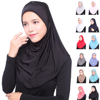 12PCS Women Muslim Hijab Long Scarf Islamic Shawls Shayla Amira Headwear Arab Islamic Underscarf Hats Scarves New Random Color