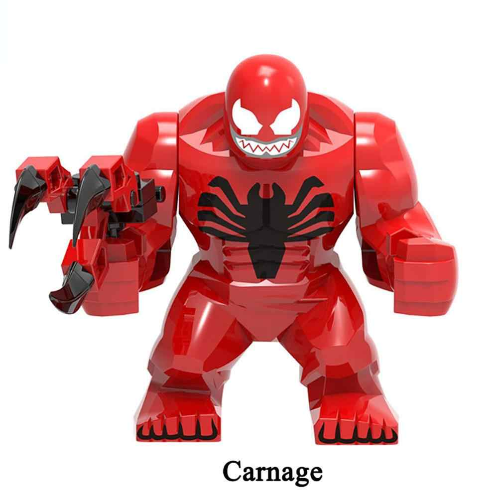 Blocos de Construção de Super Heróis homem de ferro Capitão América Hulk Aranha Figuras Brinquedos Duplo Tijolos Grandes partículas Grandes de fundo zk27