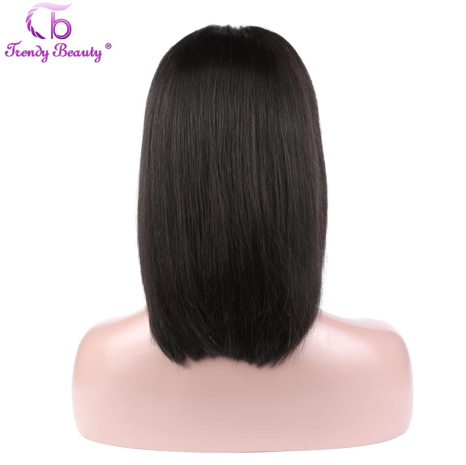 Trendy Beauty Short Lace Front Human Hair Bob Wigs Pre-Plucked Brazilian Straight Hair Bob Wigs For Black Women 100% Remy Hair