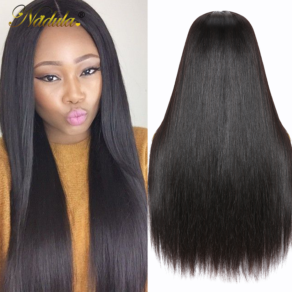 Nadula Hair Straight Lace Part  Wigs  Realistic Scalp Lace Wigs  Straight T Part Lace Wig No Knots 2