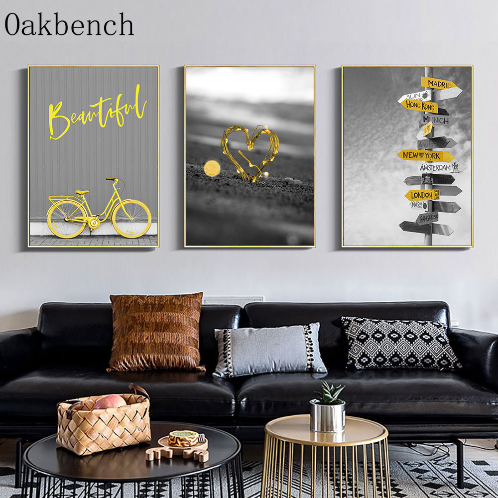 Top 8 Most Popular Yellow And Gray Wall Decor Ideas And Get Free Shipping A342