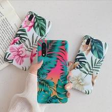 Soft Fashion Flower Leaf Phone Case For Huawei