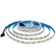 5m 3014 cct conduziu a luz de tira impermeável dc 12v 24v branco quente + branco fresco decoração do feriado lâmpada led string ribbon 240leds/m