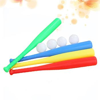 8 zestawów Baseball plastikowy zestaw nietoperzy z zabawką baseballową dla dzieci Chindren Outdoor Sports czerwony żółty niebieski zielony kolor 2 zestaw dla każdego Co tanie i dobre opinie CN (pochodzenie) Dziecko