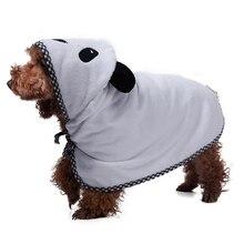 Супер абсорбирующий банный халат для собак, XS-XL ванная для собак, полотенце для маленьких, средних и больших собак, банный халат, костюм для домашних животных, сушильное полотенце, одежда для собак