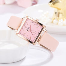Disu Single Eye Digital Scale Square Dial Simple And Stylish Ladies Quartz Watch(China)