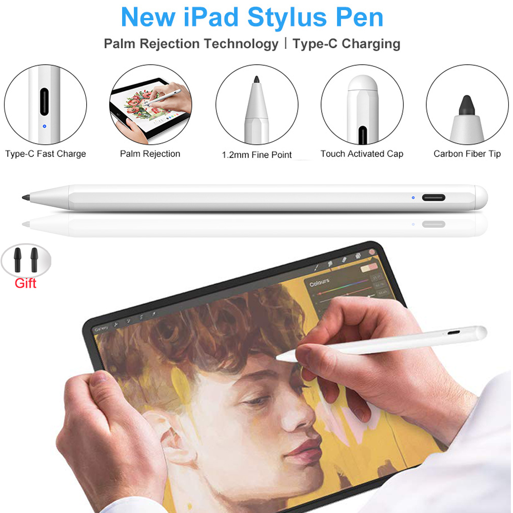 Upgraded Stylus Pen With Palm Rejection For 2019 IPad Pro 12.9 11 Inch 10.2 / 2018 6th 9.7 / Air 3 / Mini 5 For Apple Pencil 2