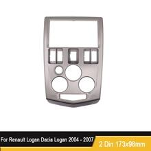 Çift 2 Din DVD Stereo fasya Renault Logan Dacia Logan 2004 2007 paneli fasya plaka çerçevesi montaj Dash kurulum trim kiti