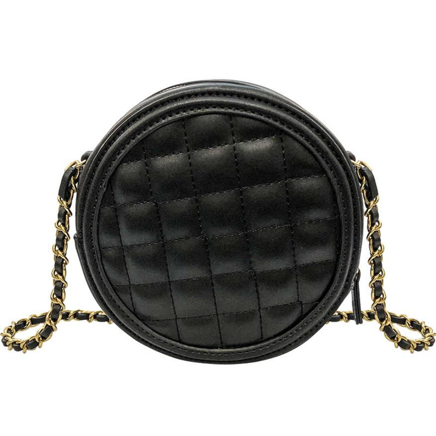 Circular Design Women Shoulder Bag Diamond Lattice Women's Crossbody Messenger Bag Ladies Purse Female Round Purse And Handbag