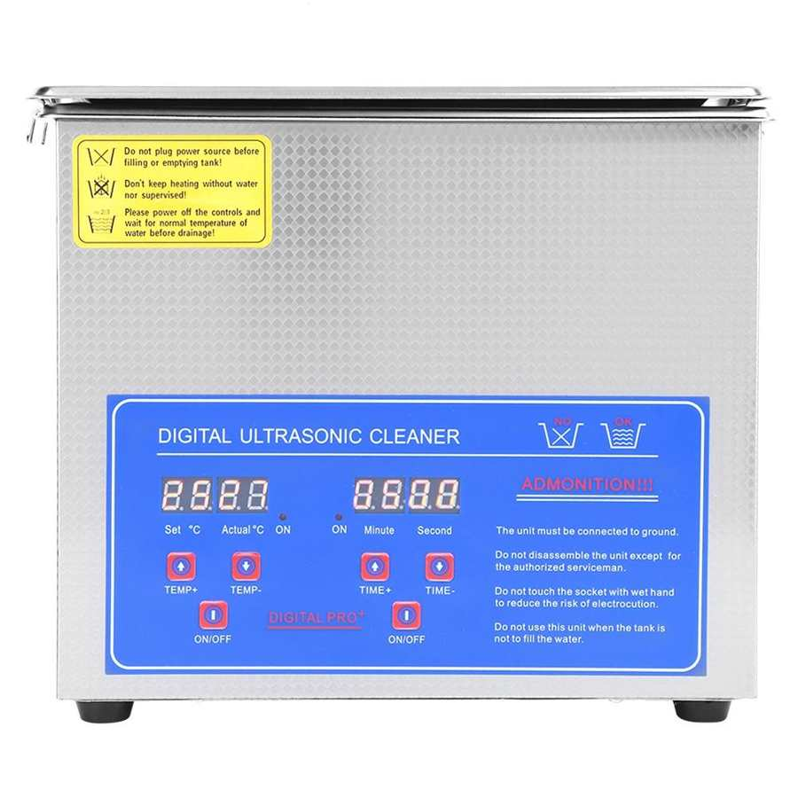 Digital Ultra Sonic Cleaner Bath Timer Stainless Tank Cleaning 2L/3L/6L Ultrasonic EU Plug 220V Microprocessor controlled Device