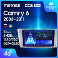 TEYES CC2L и CC2 Plus Штатная магнитола For Тойота Камри 6 XV40 XV50 For Toyota Camry 6 XV 40 50 2006 - 2011 Android до 8-ЯДЕР до 6 + 128ГБ 2DIN автомагнитола 2 DIN DVD GPS мультимедиа автом...