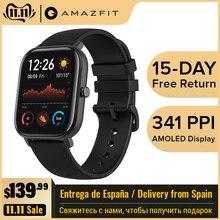 Amazfit GTS глобальная версия Смарт-часы 5ATM водонепроницаемые умные часы 14 дней батарея gps управление музыкой