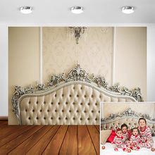 Фон с изголовьем кровати для фотографий будуарная кровать беременных