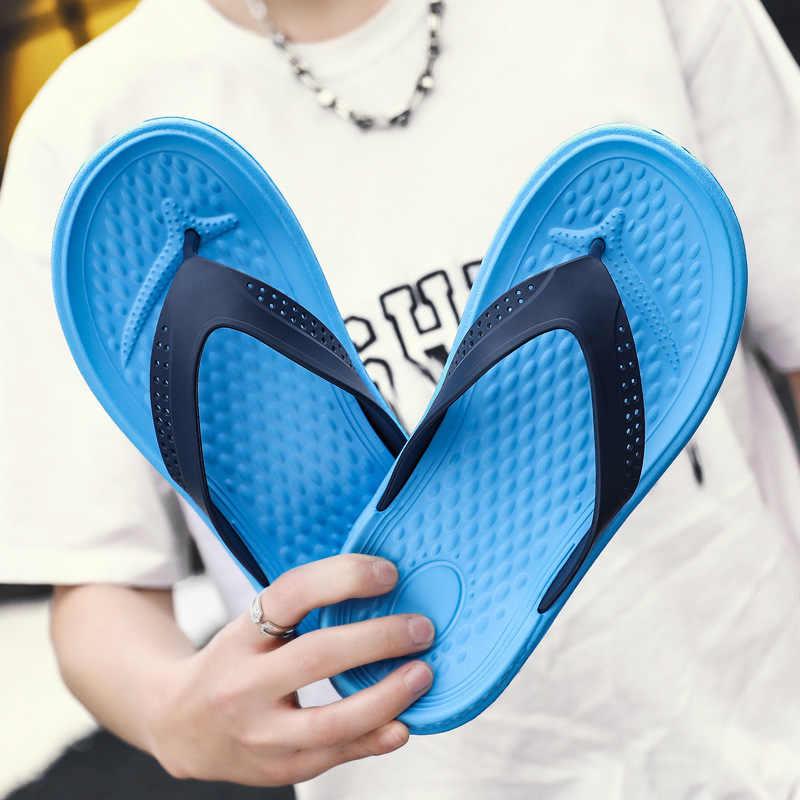 Mens Boys Flip Flops Sandals Beach Soft Slippers EVA Home Casual Shoes Summer