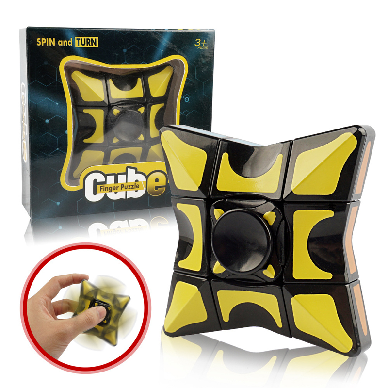 Stress Relief Cube Fingertip Gyro Double Use Decompression Toy Adult Stress Relief Toy Children Party Gift Education Puzzles Toy