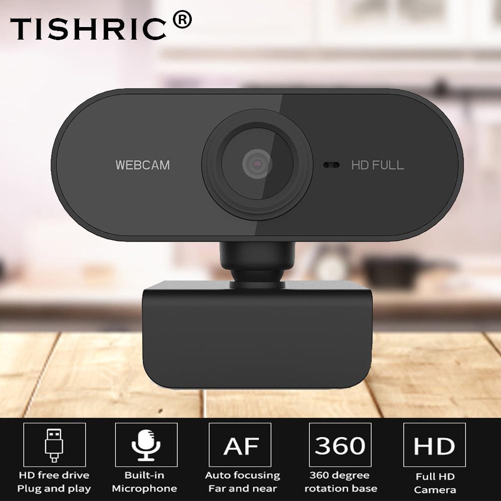 Веб камера TISHRIC Mini USB 2,0 Full HD 1080p, веб камера с автофокусом и микрофоном для компьютера, ПК, ноутбука, видеовызов в реальном времени|Веб-камеры|   | АлиЭкспресс