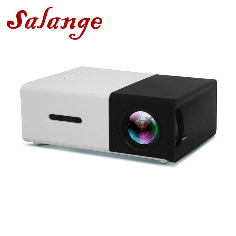Salange YG300 Mini Projector 320x240 Pixels Support 1080P <font><b>YG</b></font>-<font><b>300</b></font> HDMI USB Audio Video Beamer image