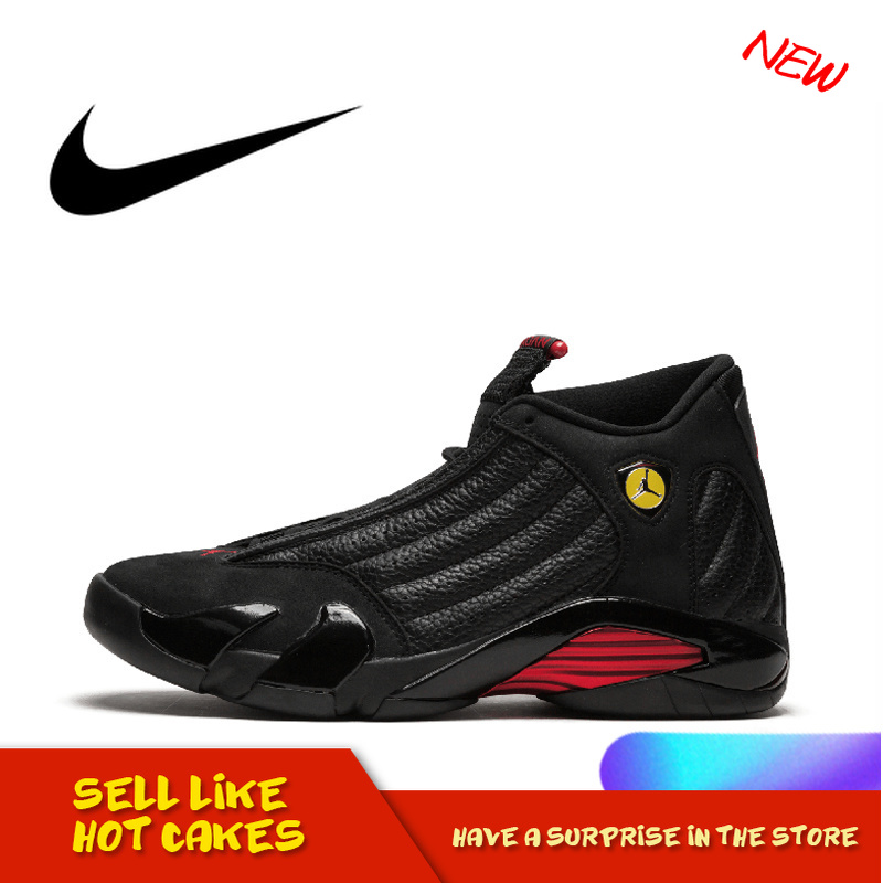 Original Authentic NIKE Air Jordan 14 Retro Men's Basketball Shoes Comfortable Breathable Classic Sport Outdoor Sneakers 487471