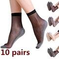 1 paar Frühling Sommer Frauen Weiche Socken Casual Non-Slip Bottom Splice Mode Transparent Damen Mädchen Dünne Seide Socke TT @ 88