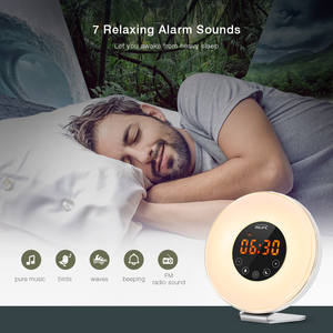 Wake-Up Light Alarm-Clocks Time-Display Fm-Radio Snooze-Function LED with Touch Mode
