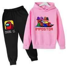 Anime Lovely Clothing Kids Tracksuit Kids Sets Baby Girls Fashion Sports Suits Hoodies Sweatshirts+Pants 2 Pcs Among Us Clothes