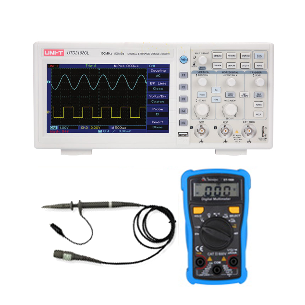 Digital Storage Oscilloscope 2 Channels,250Ms/s / 500Ms/s Sampling Come With Multimeter And High Pressure Probe
