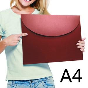 Image 2 - 20 unids/lote A4 sobres occidentales papel de perlas #9 sobres de colores para documentos, archivos, almacenamiento de fotos Drop Shipping