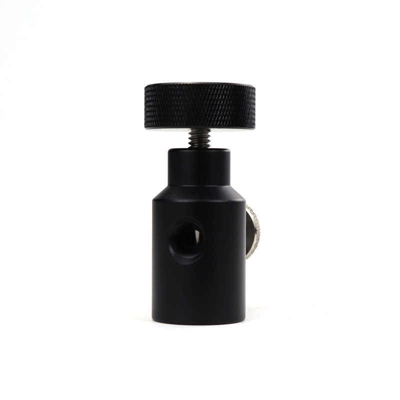 Nuevo Paintball PCP manguera remota UFA adaptador de relleno Universal CO2 HPA adaptador On/Off con válvula de purga de ventilación ASA perilla grande (negro)
