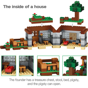 Image 4 - 408pcs The First Night Adventure Shelter Model Building Blocks Village Eductional Bricks Toys for Children