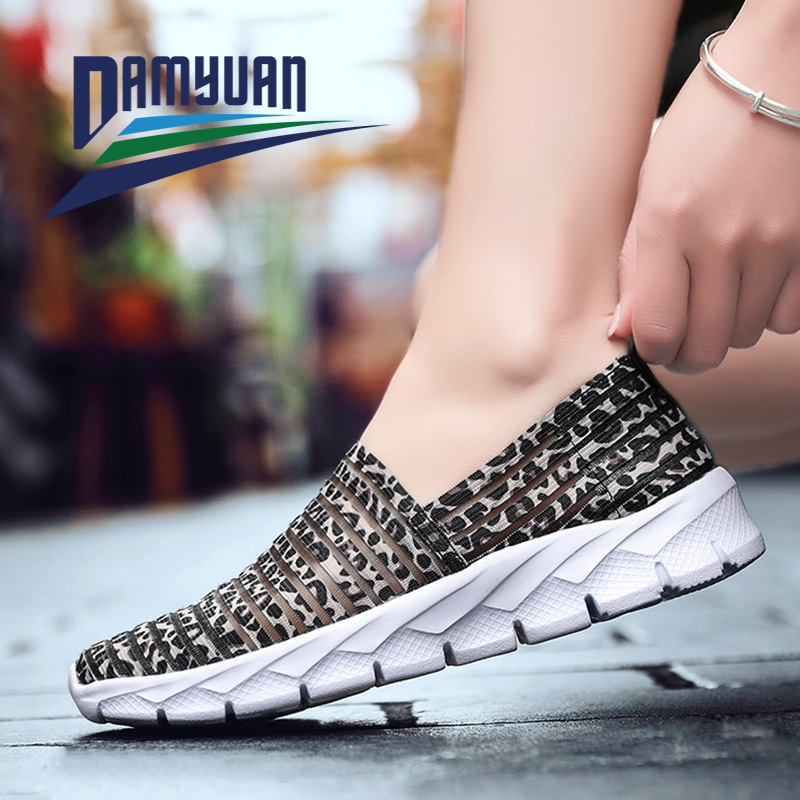 Damyuan Woman Sneakers Women's Flats Sock casual shoes Lightweight Summer Loafers Walking Flat Shoes Ladies Light House Shoes