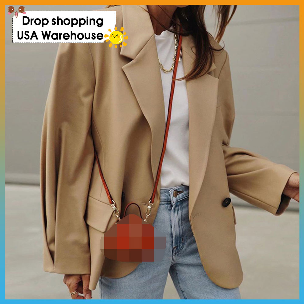 Women's 2020 New Style for Autumn and Winter Fashion All-match Small Suit Jacket blazer Coat Female Casual Loose Plus Size