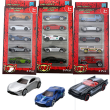 1:64 5Pcs Alloy Car Toy Fast And Furious Diecast Sport Car Toys for Boy Toy Cars Collection Model цена и фото