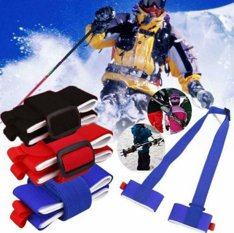 Ski Carrier Holder Carrying Sling Strap Carry Tie Skis Poles Shoulder Handle