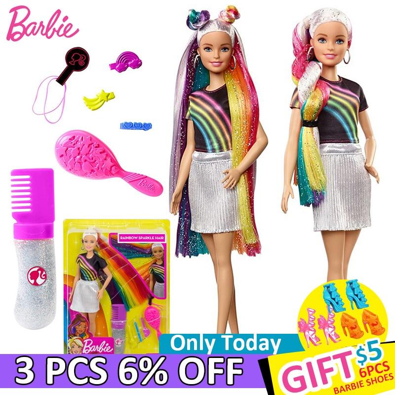 Original Brand Barbie Dolls Princess Assortment Fashionista Rainbow Girl Fashion Kids Birthday Gift Doll Bonecas Children Toys