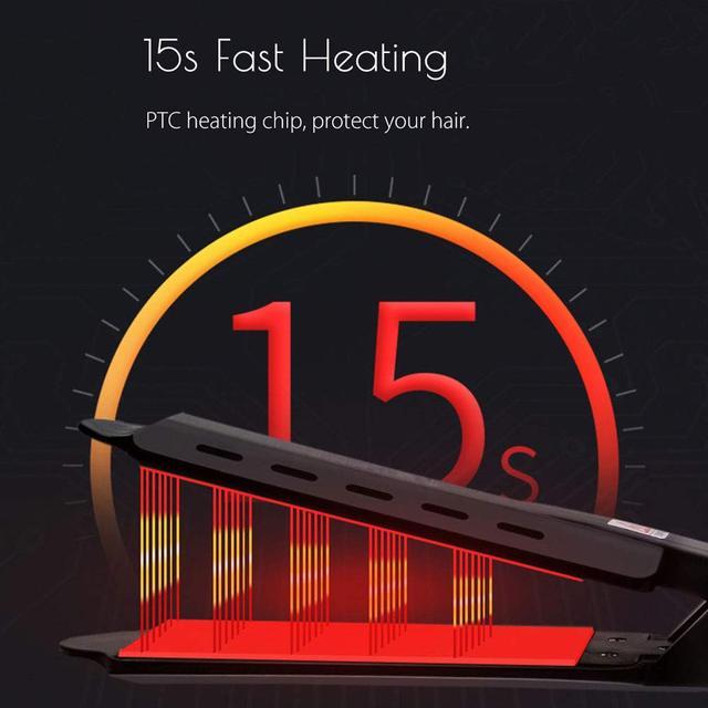 Hair Straightener Steam Flat Iron Four-Gear Hair Straightening Tourmaline Ceramic Professional Hair Straightener Styling Tool 2
