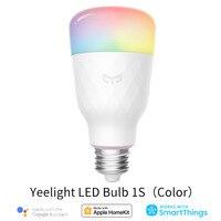 Mijia Yeelight-bombilla LED inteligente, lámpara de colores RGB 1S/1SE, AC100V-240V, E27, WIFI, Control remoto por voz, asistente de Google Homekit
