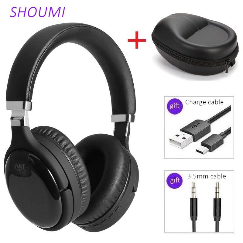Активный Шум шумоподавления гарнитуры Bluetooth стерео шлем ANC Беспроводной наушников с микрофоном наушники сумка бас Hi-Fi динамик LY-903