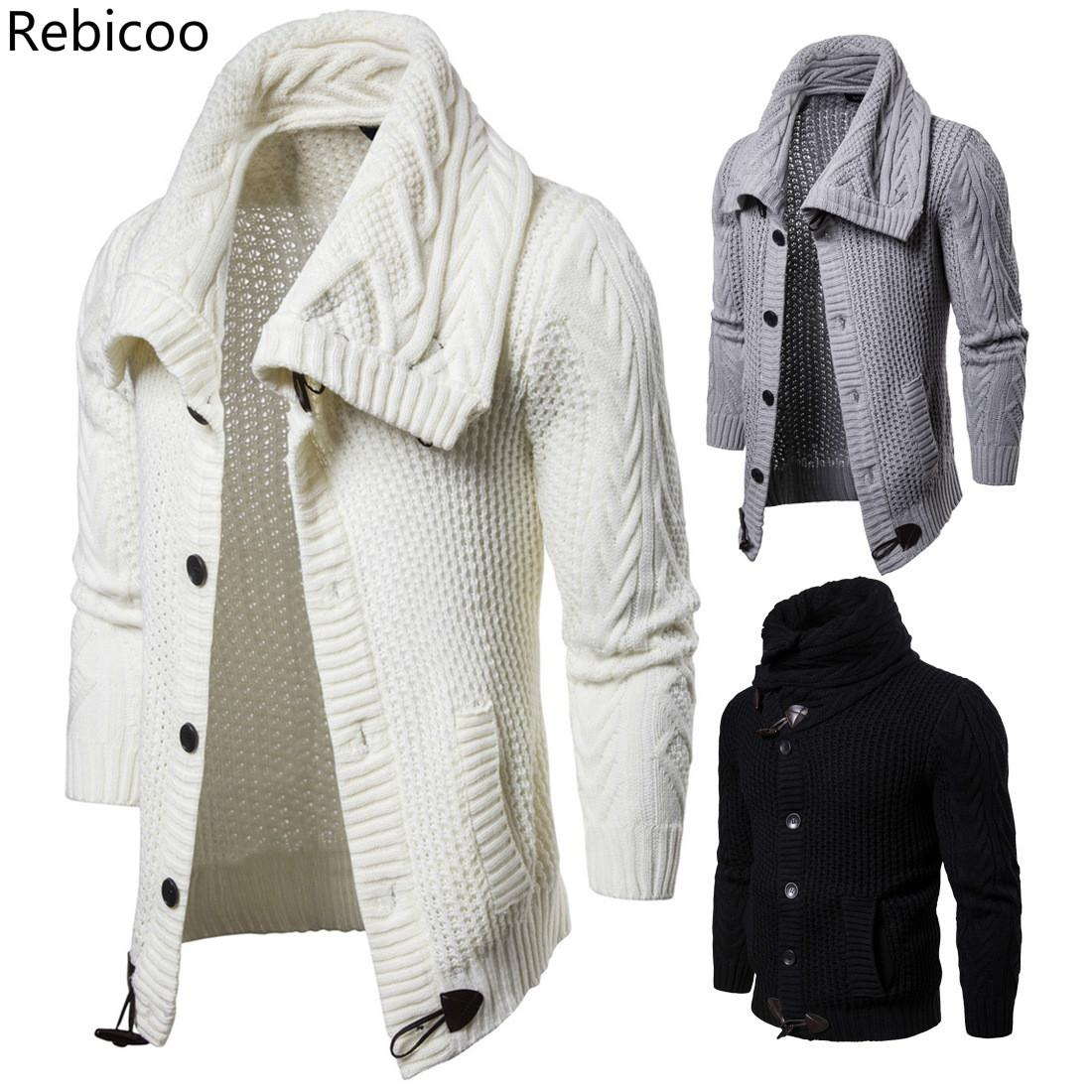Young Men Of New Fund Of  Autumn Pure Color Knitted Cardigan Sweater Coat Fashion Hot Sweater Men Direct Deal Keep Warm