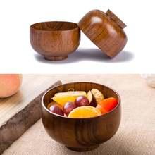 Деревянная миска в японском стиле для рисового супа Салатница