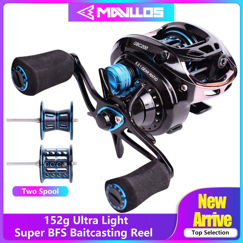 Mavllos BFS Fishing Reel Baitcasting Reel Left Right Hand Double Metal Spool 6 5 1 152g Ultra Light Fishing Bait Casting Reels in Fishing Reels from Sports Entertainment