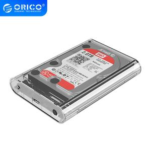 ORICO HDD Case 3.5 Inch SATA to USB 3.0 Transparent HDD Enclosure Support 16TB HDD 5Gbps With 12V Power Adapter Box