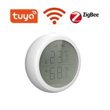 ZigBee-conexión inalámbrica que funciona con TuYa ZigBee Hub, Sensor de temperatura, humedad y presión del aire, Control inteligente