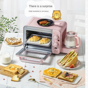 Бытовая Машина для завтрака, тостер, небольшая духовка, горячее молоко, три в одном, для завтрака, артефакт, многофункциональный тостер, Кофе...
