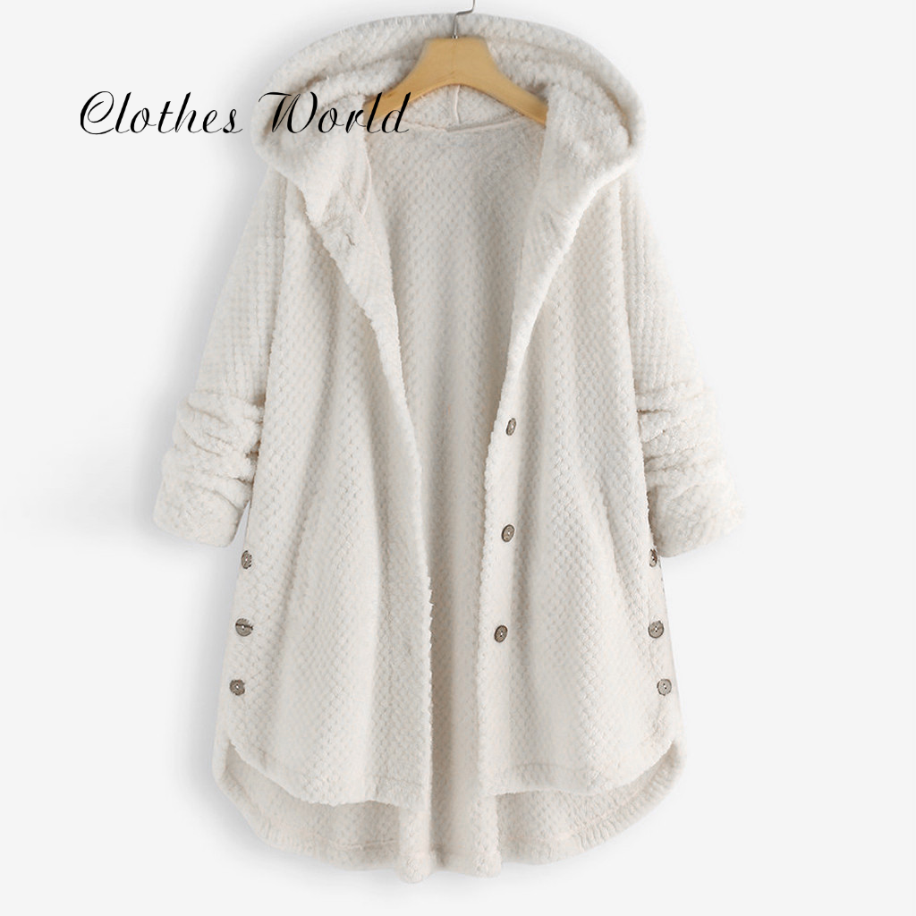 女性コート厚手のフリースのジャケット女性の冬の韓国コート女子学生フード付きプラスサイズジャケット女性コートチャケータ mujer