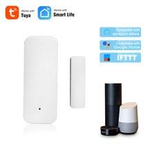 Умный дом WiFi датчик для двери умный датчик охранной сигнализации датчик беспроводной магнитный переключатель приложение управление с Alexa ...